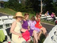 Before the wedding: Classy Mama Ewa and her girls with the sun in our eyes.