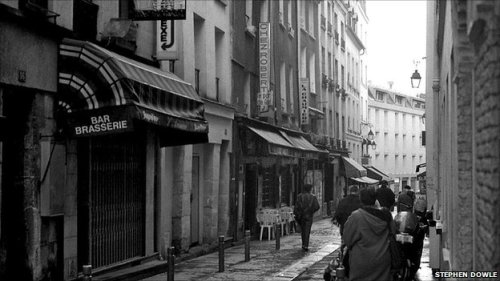 The Rue du Coq d'Or in the 5th Arrondissement, where Orwell's narration begins. Photo from BBC.