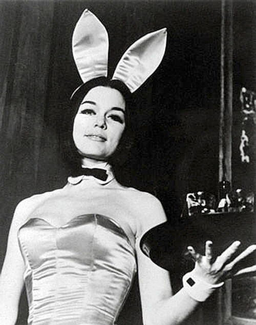 Marie Ochs in the promotional photo as a Bunny, taken by the Playboy Club. Playboy still uses this photo in promotional materials today.